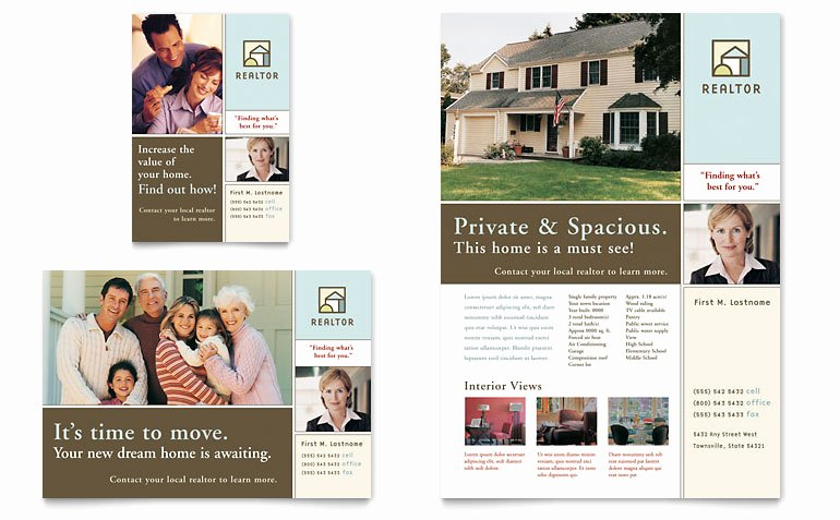 House for Sale Real Estate Flyer & Ad Template Word