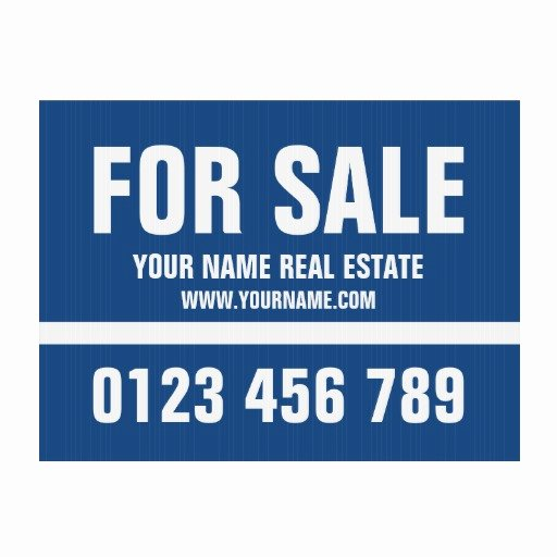 House for Sale Template Real Estate Yard Sign
