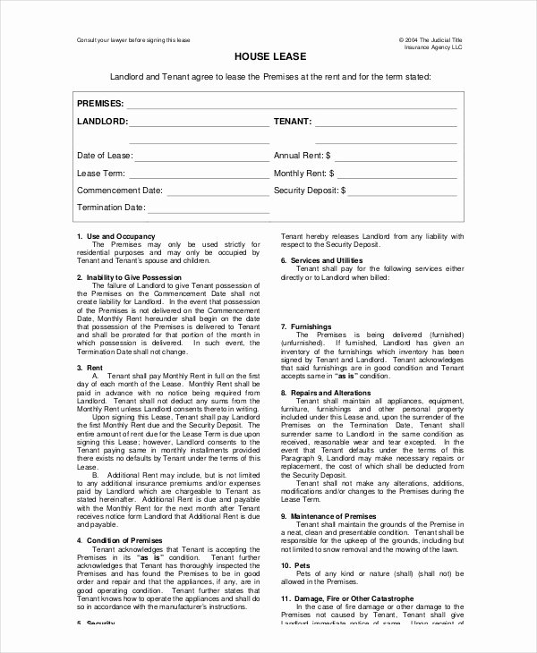 House Lease Template 6 Free Word Pdf Documents