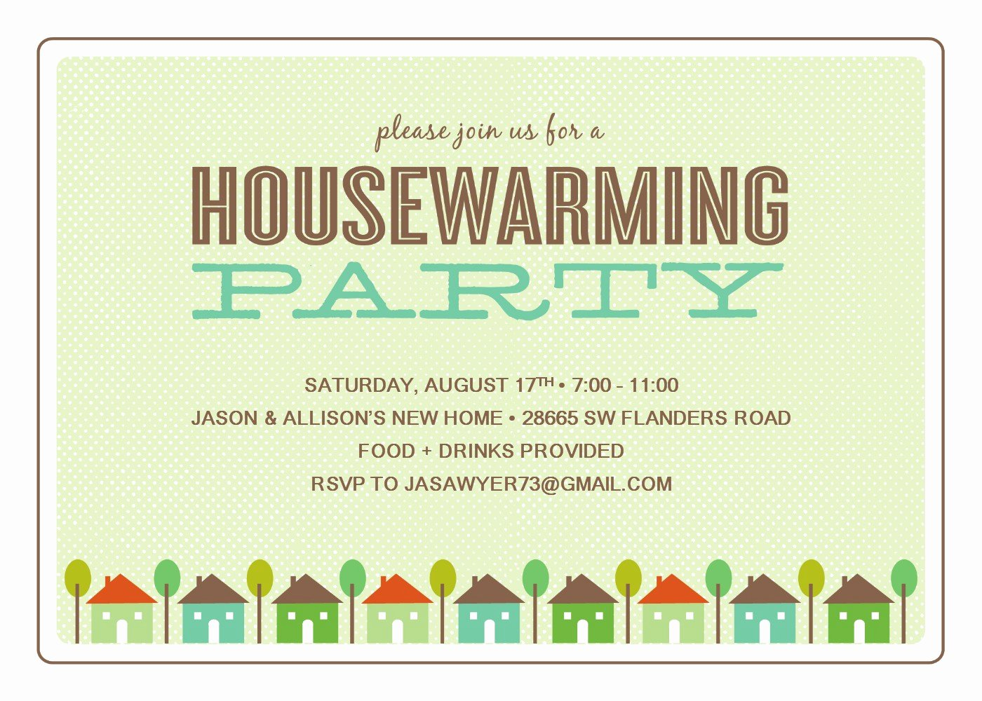 House Warming Invitation Template