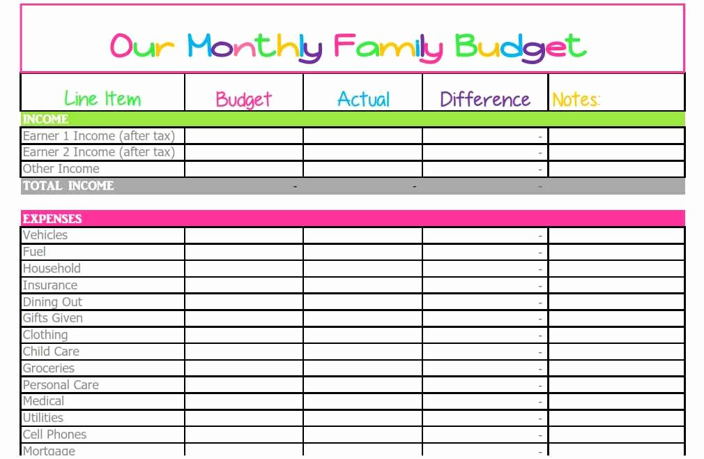 Household Spreadsheet Templates Household Spreadsheet