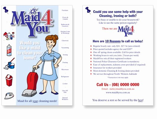 Housekeeping Flyers Flyer Ads House Cleaning Maid Services