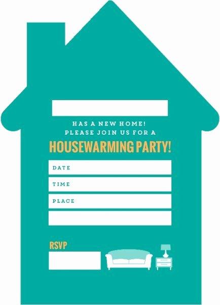 Housewarming Invitation Blank Templates