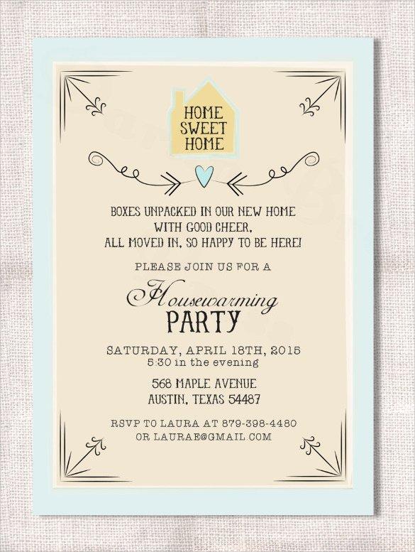 Housewarming Invitation Sample Housewarming Invitations