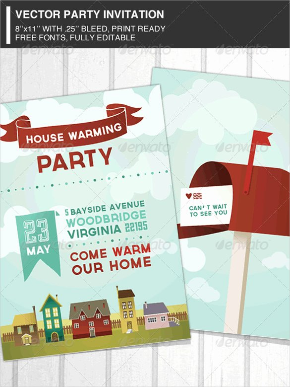 Housewarming Invitation Template – 30 Free Psd Vector
