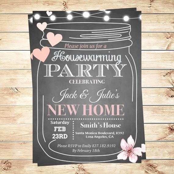 Housewarming Party Invitations Template Housewarming Bbq
