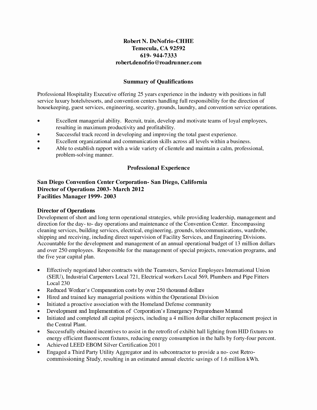 Houskeeping Resume Resume Ideas