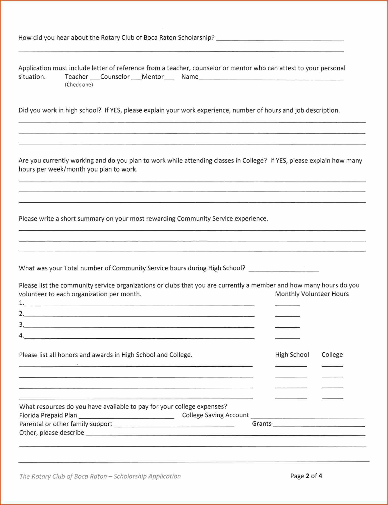 How Can I Apply Scholarship Bud Template Letter