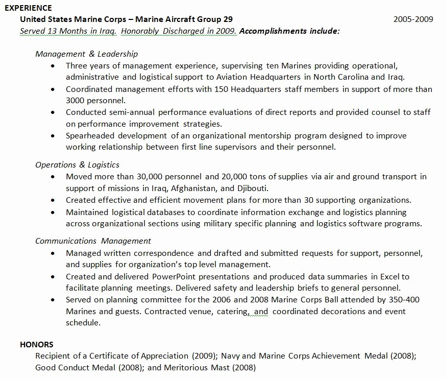 How Should I Address My Military Experience On My Resume