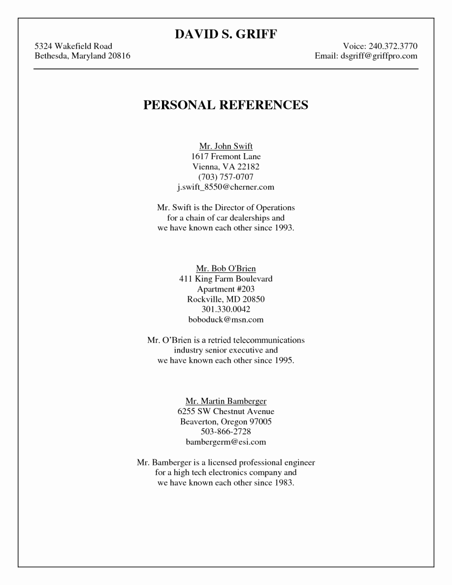 How to Add References to You Resume – Perfect Resume format