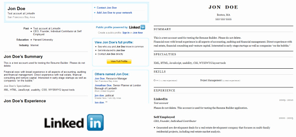How to Convert Your Linkedin Profile to A Resume Line Easily