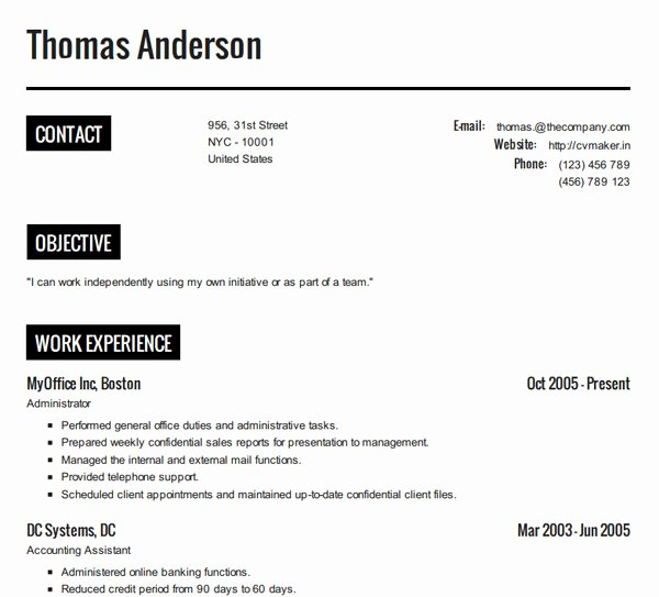 How to Create A Resume Resume Cv Example Template
