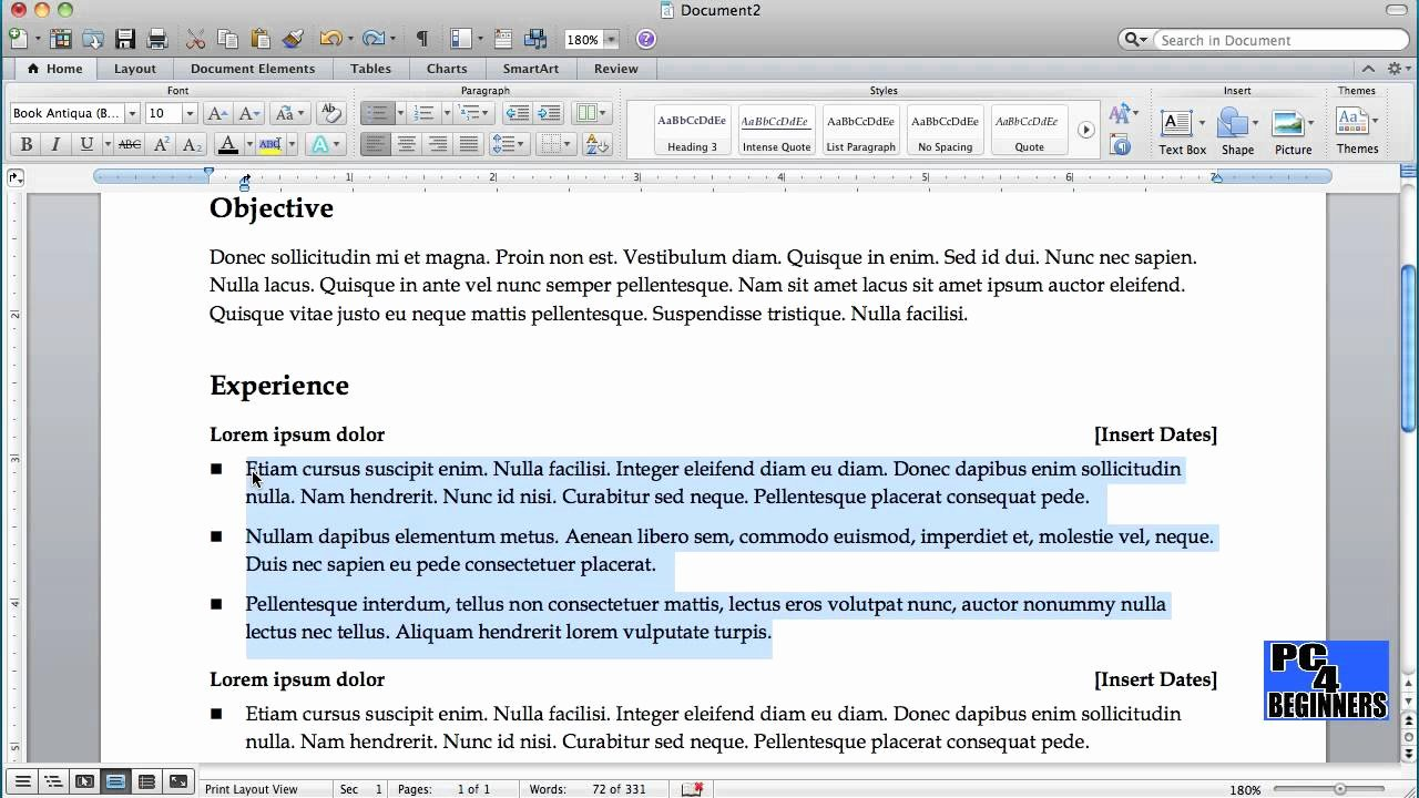 How to Create A Resume Using Microsoft Word