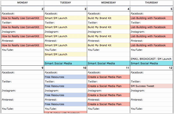 How to Create A social Media Calendar A Template for