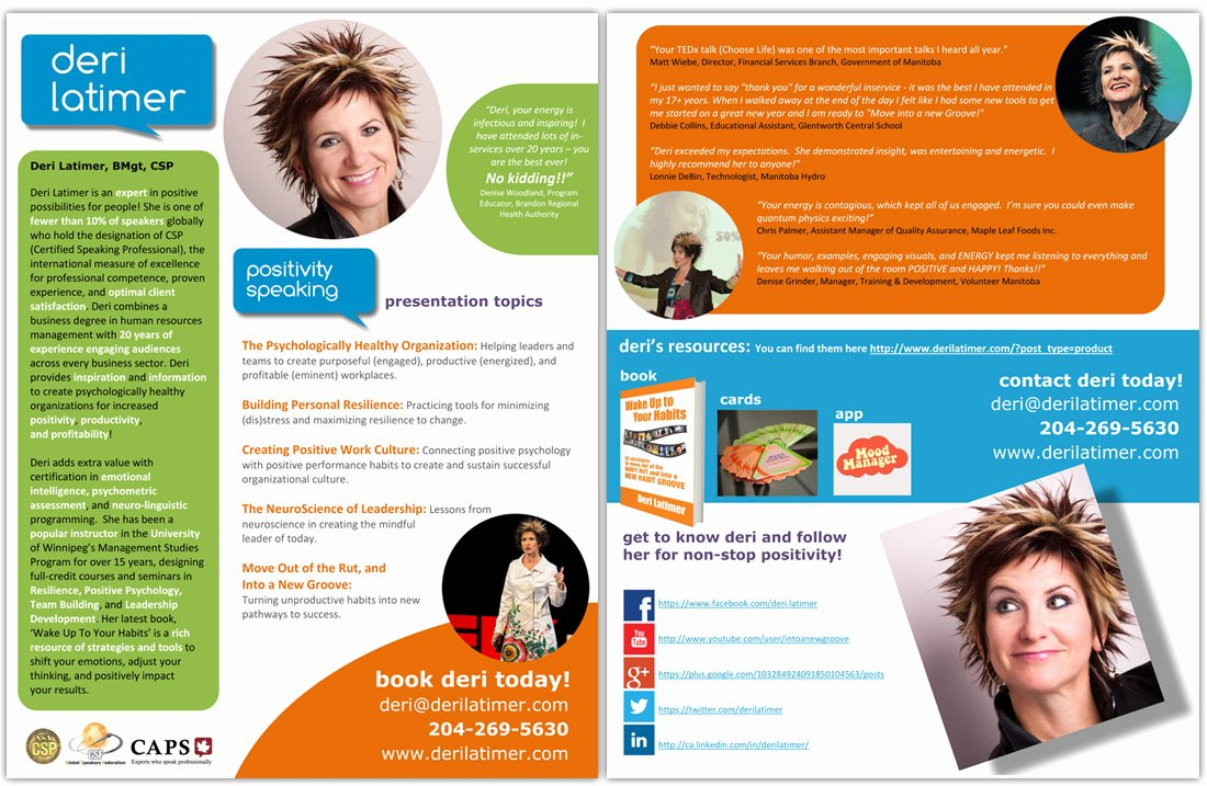 How to Create A Speaker E Sheet the Happy Self Publisher
