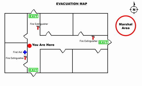 how to create an emergency evacuation map for your business