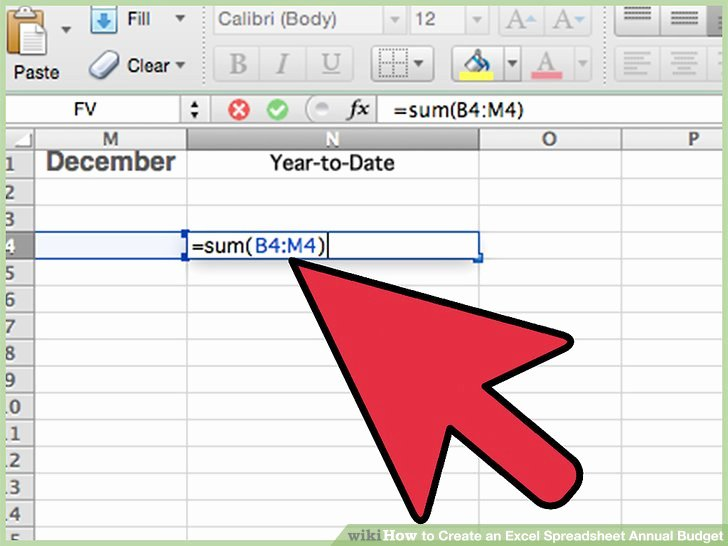 How to Create An Excel Spreadsheet Annual Bud 15 Steps