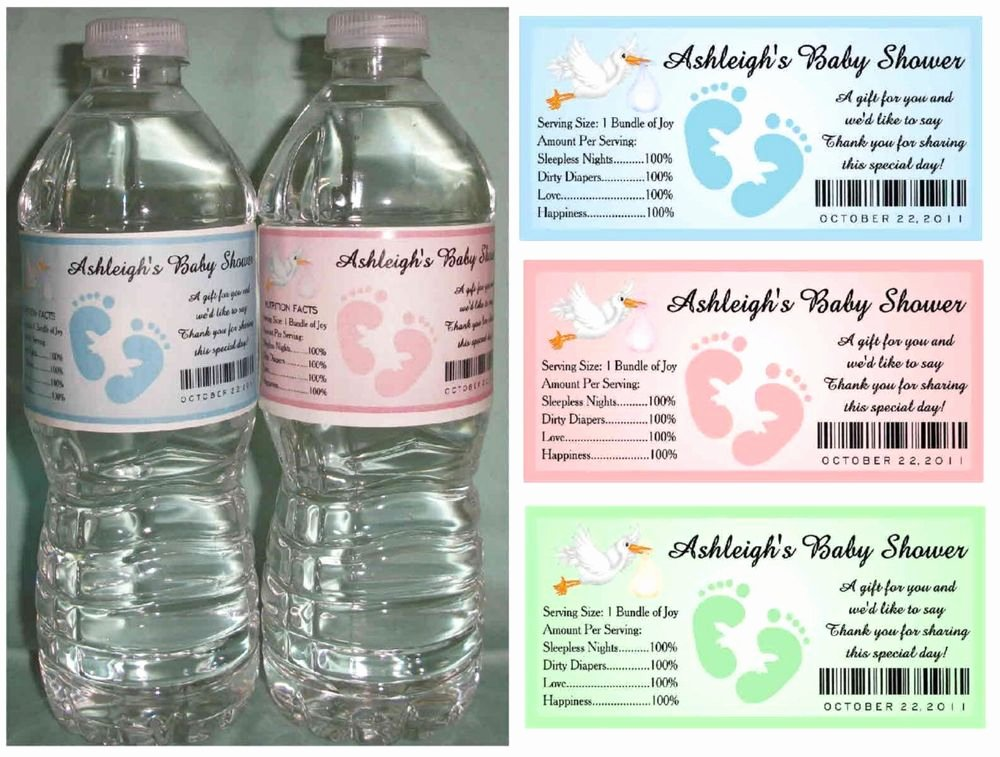How to Create Baby Shower Water Bottle Labels