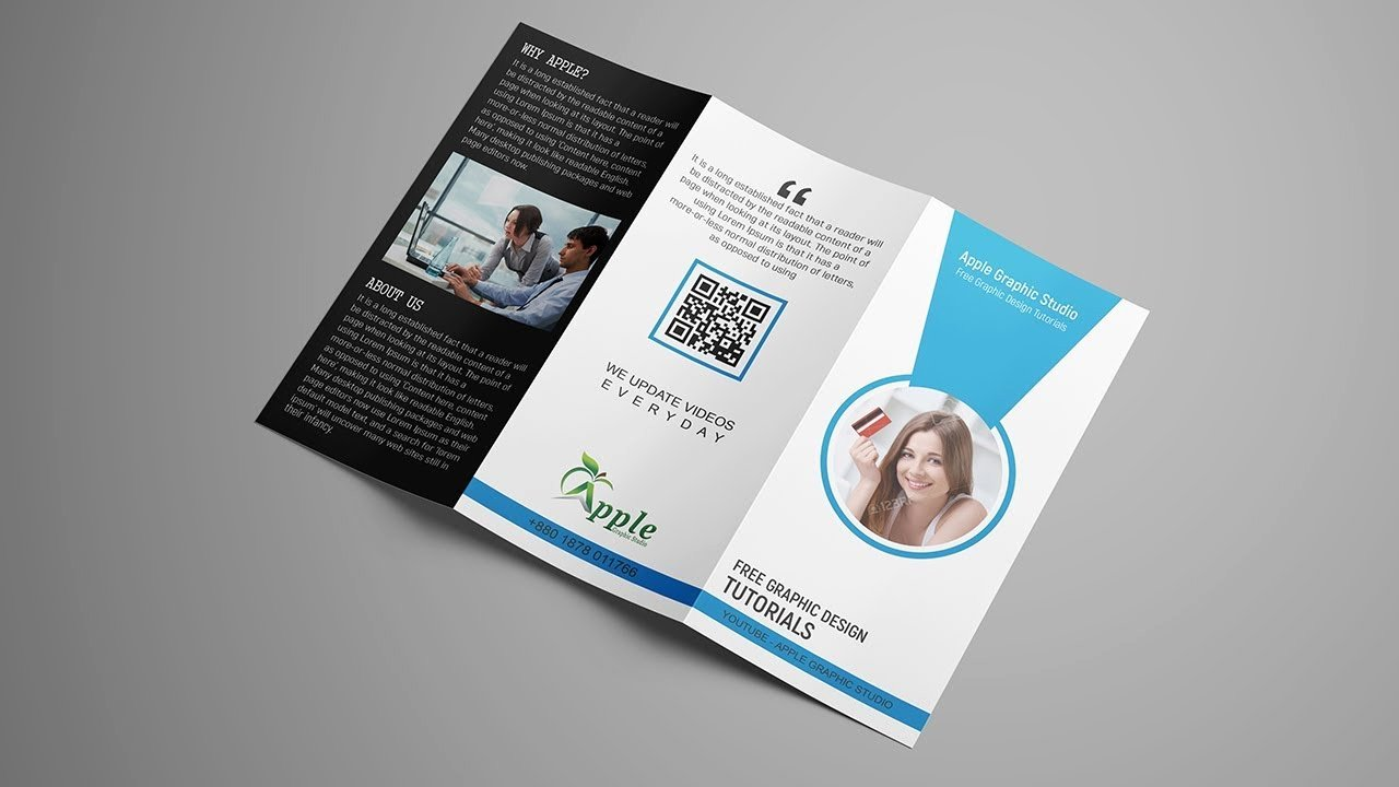 How to Create Tri Fold Brochure Template Design for