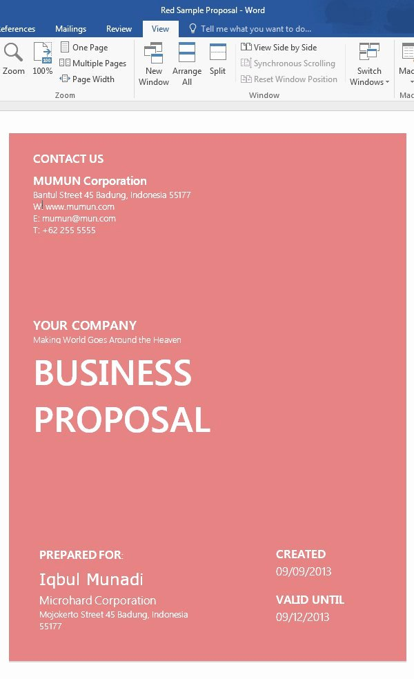 How to Customize A Simple Business Proposal Template In Ms