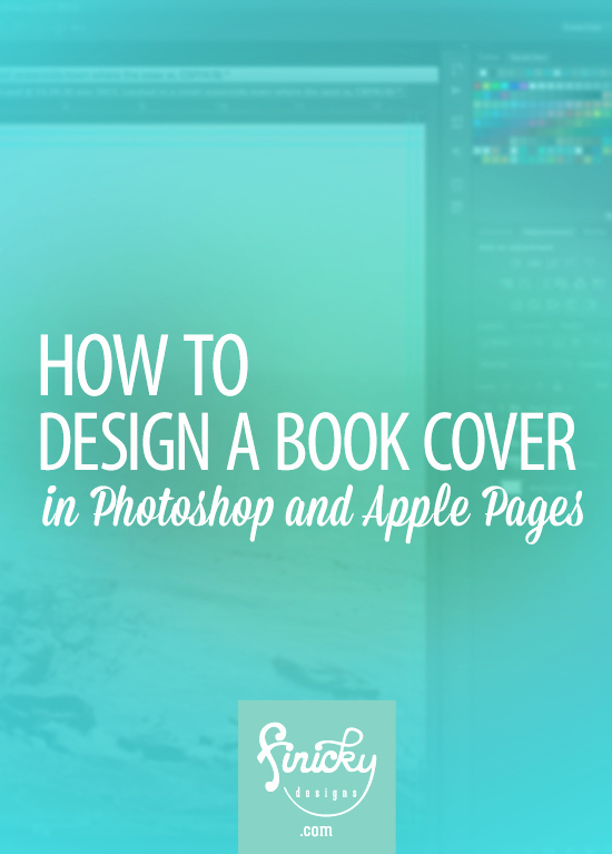How to Design A Book Cover In Shop and Apple Pages