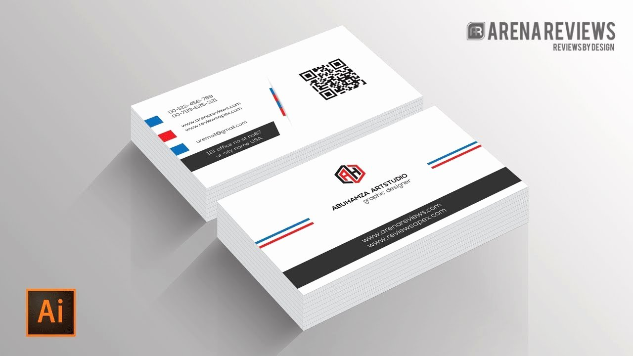 How to Design Business Card Template Illustrator Cc