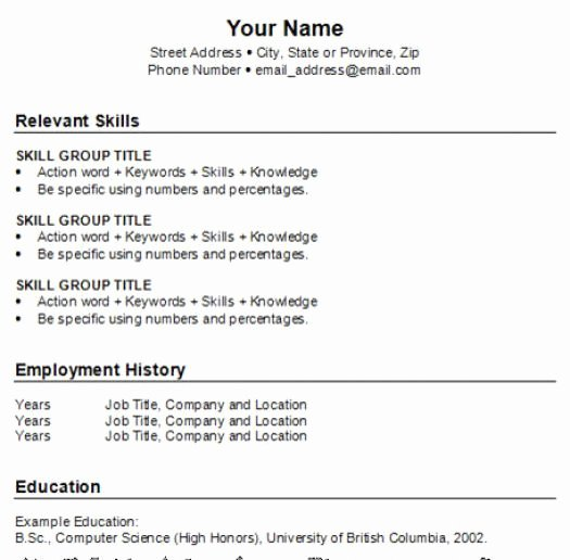How to Do A Resume for A Job for Free