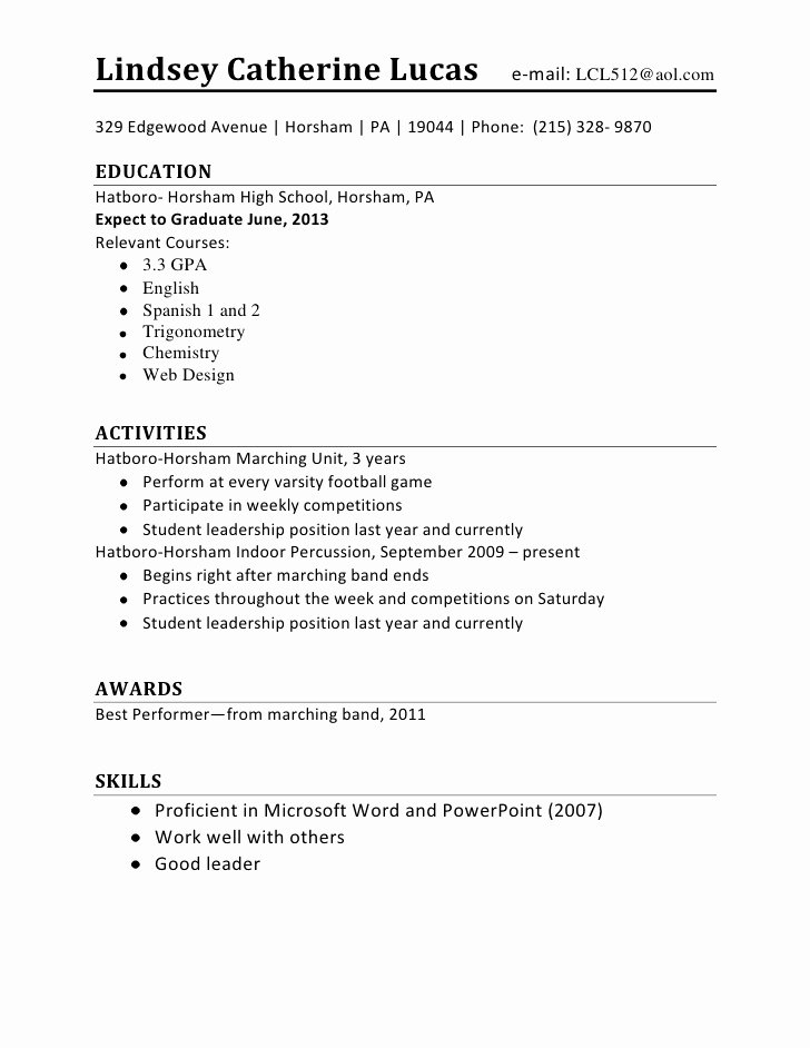 How to Do A Resume with No Experience First Time Resume