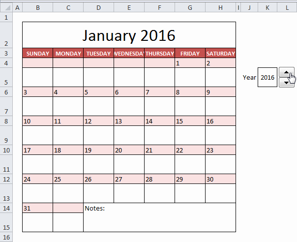 How to Insert Calendar Excel 2016