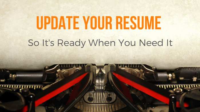How to Keep Your Resume Up to Date Pain Free