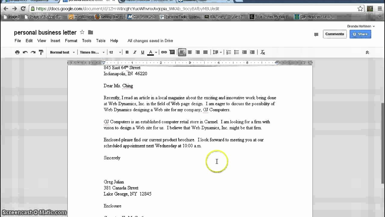 How to Make A Business Letter In Microsoft Word First