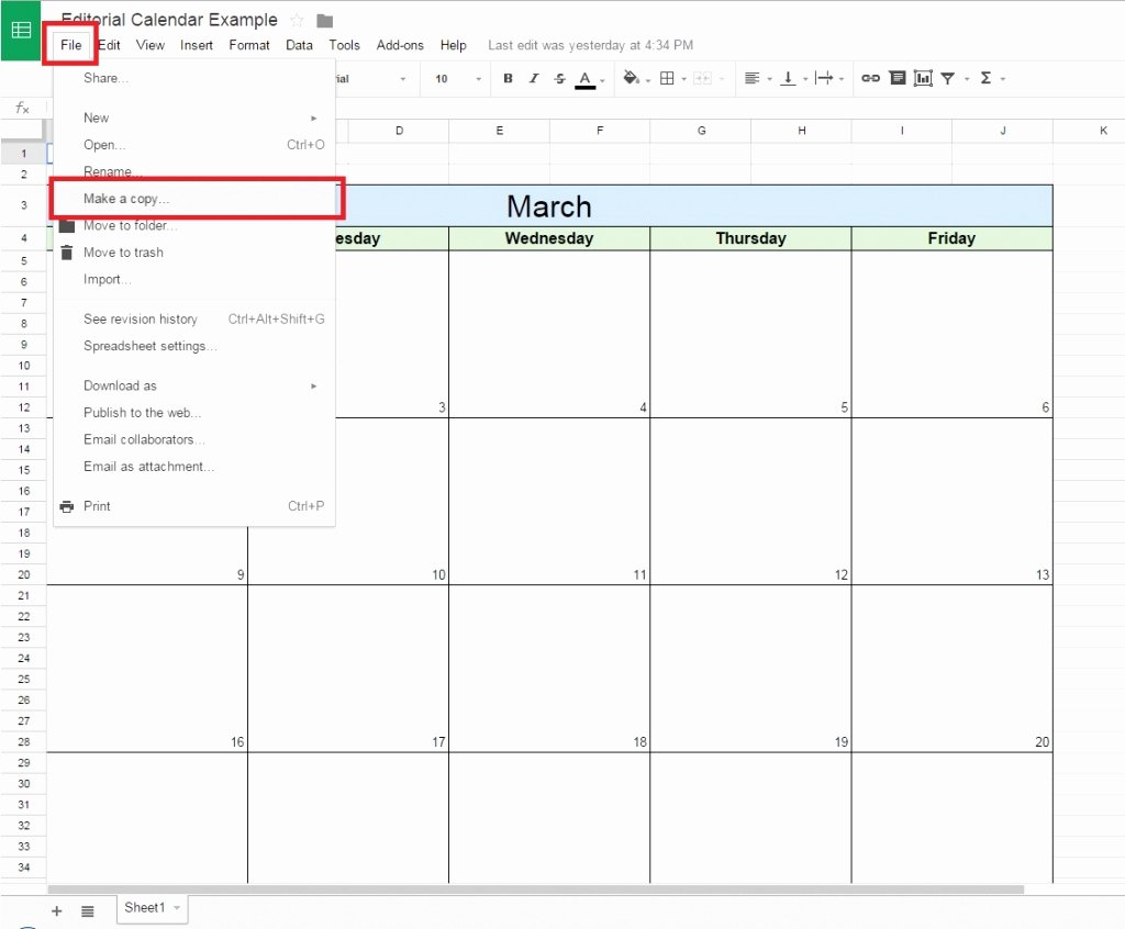 How to Make A Calendar In Google Docs