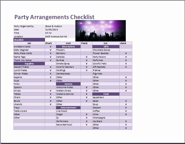 How to Make A Check F Sheet In Excel Wedding Checklist