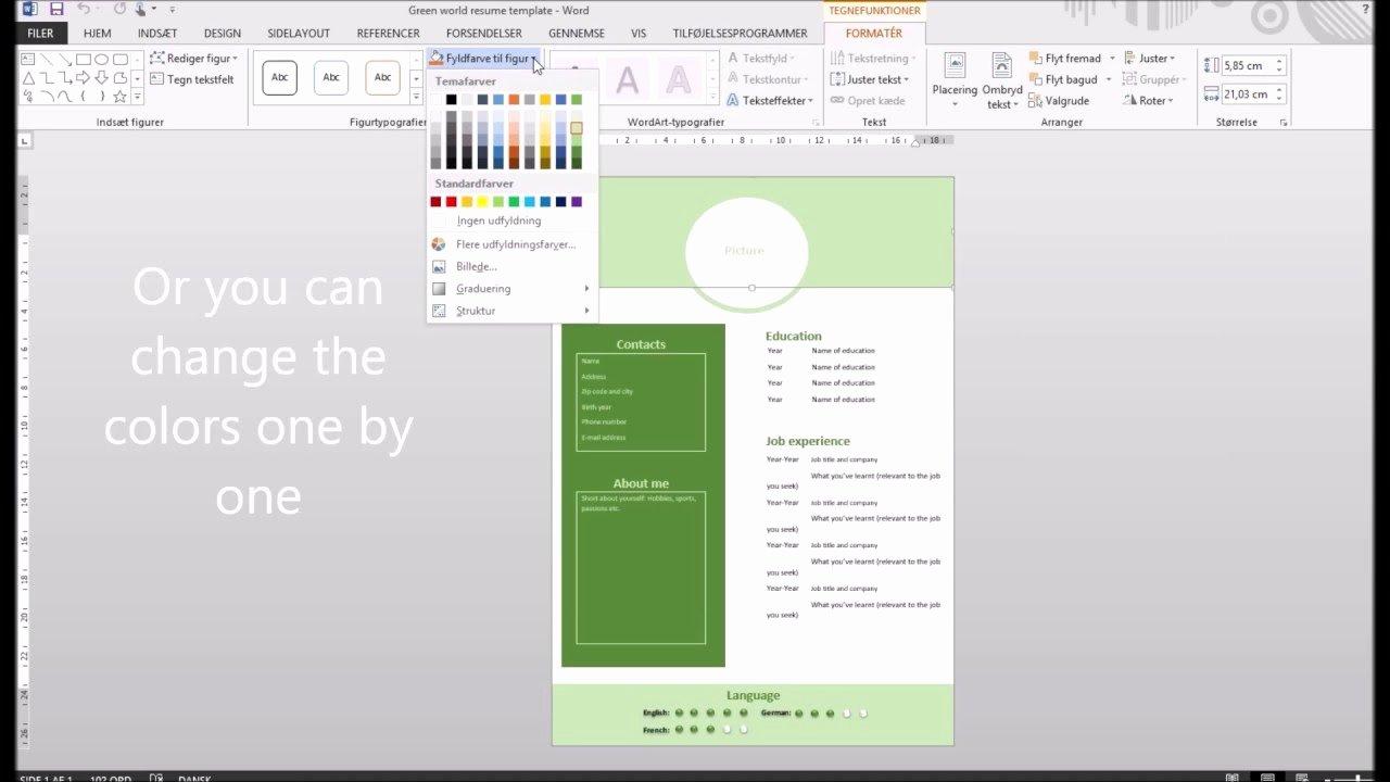 How to Make A Creative Resume In Microsoft Word