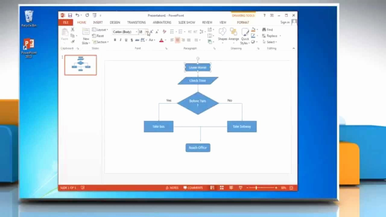 How to Make A Flow Chart In Powerpoint 2013
