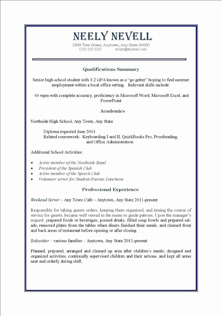 How to Make A High School Resume Unique Beautiful Sample