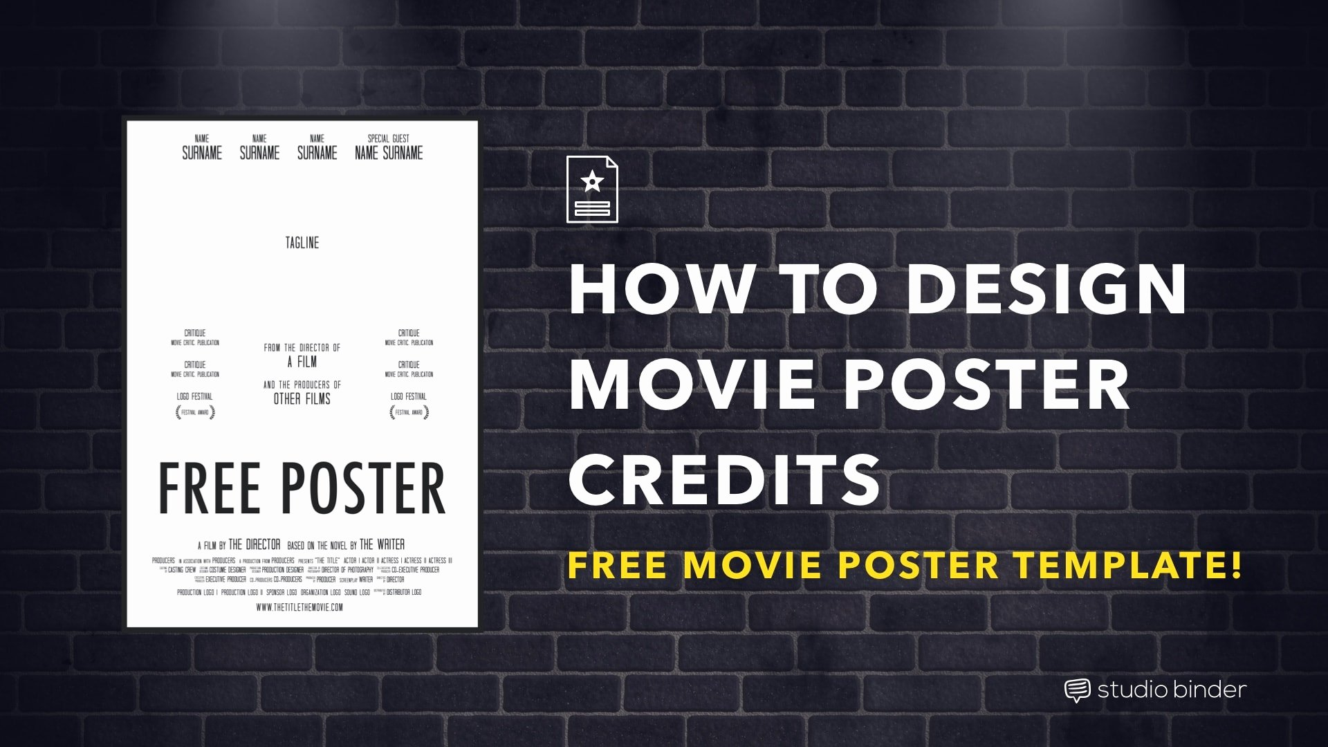 How to Make A Movie Poster [free Movie Poster Credits