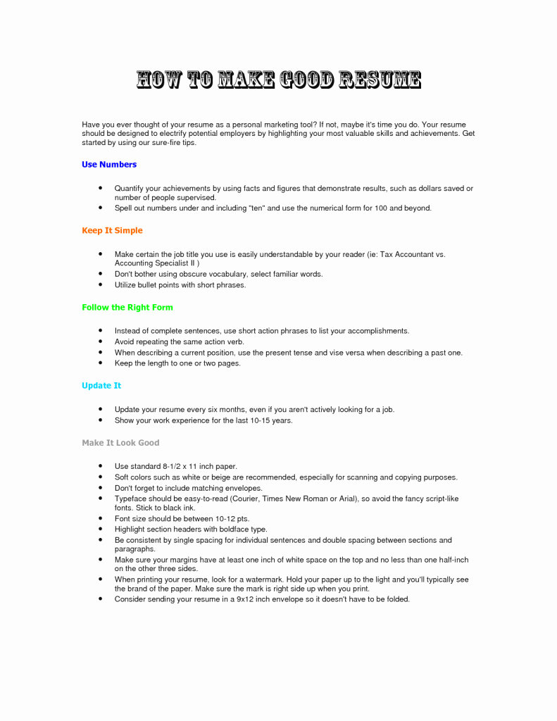 How to Make A Resume Resume Cv Example Template