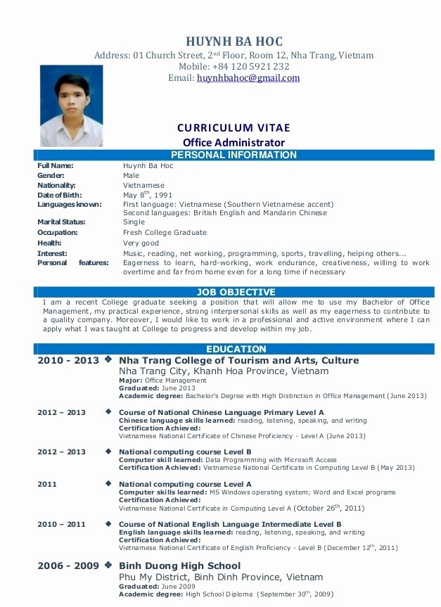 How to Make A Simple Job Resume Simple Job Resume
