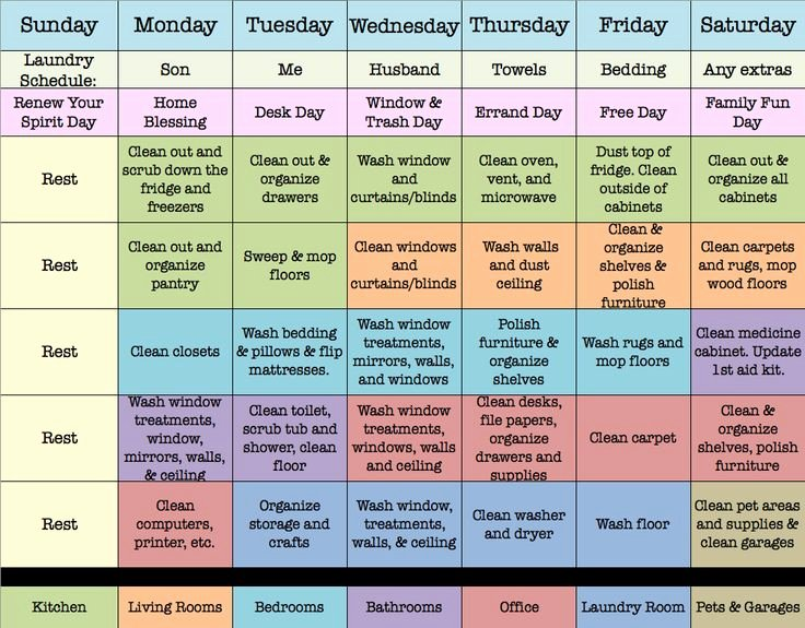 How to Make An Efficient Weekly House Cleaning Schedule