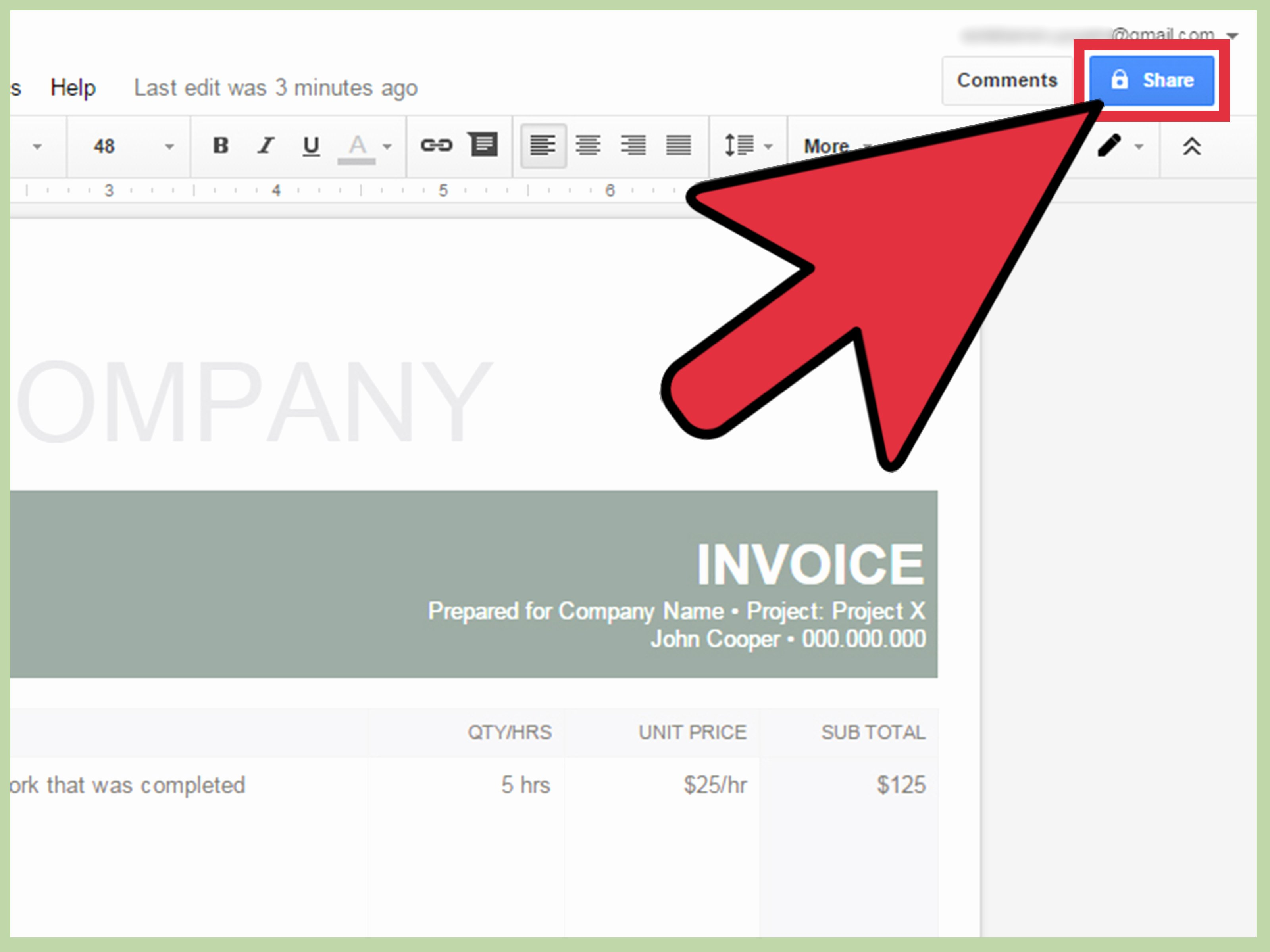 How to Make An Invoice In Google Docs 8 Steps with
