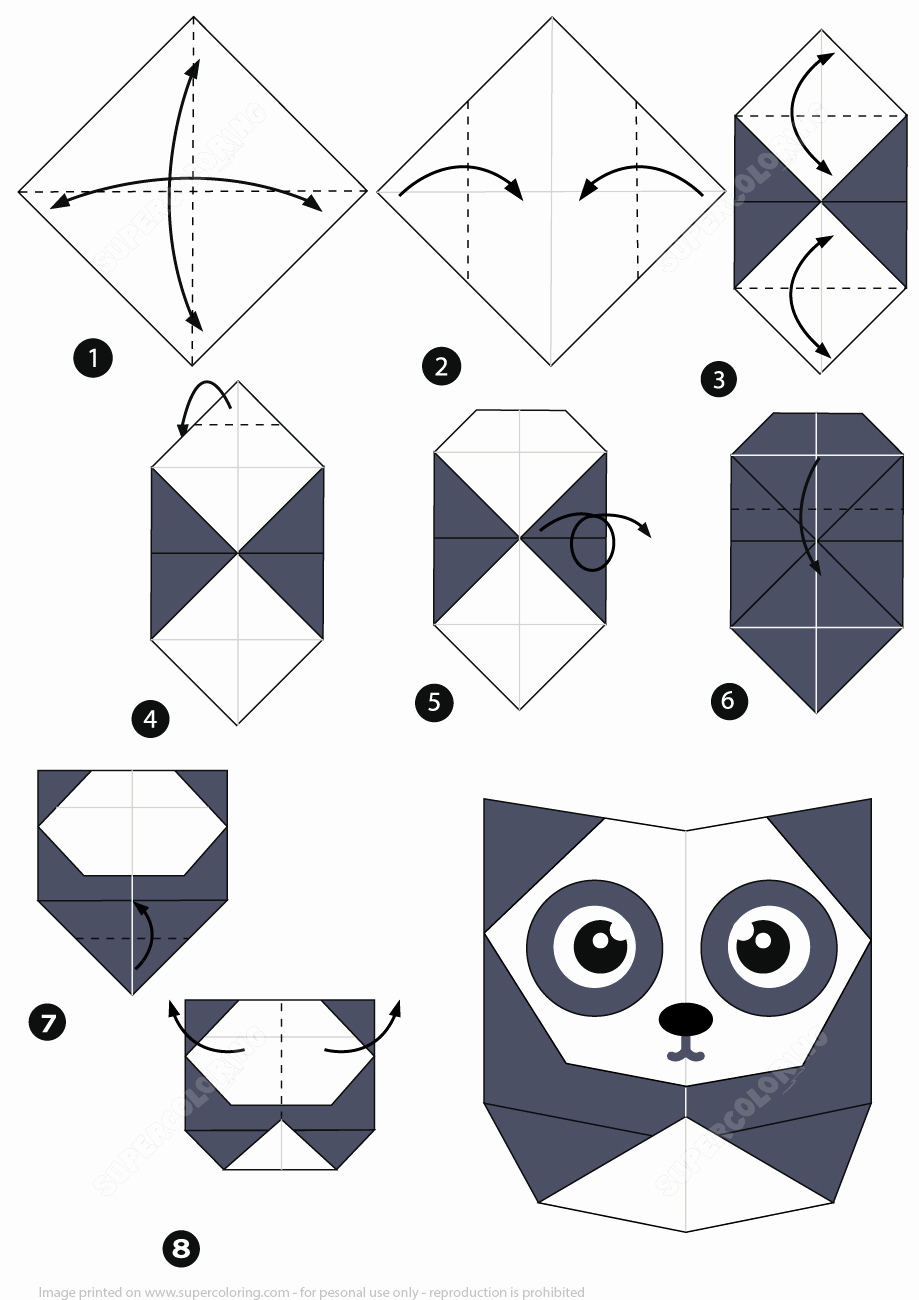 How to Make An origami Panda Step by Step Instructions