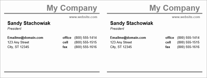 How to Make Free Business Cards In Microsoft Word with