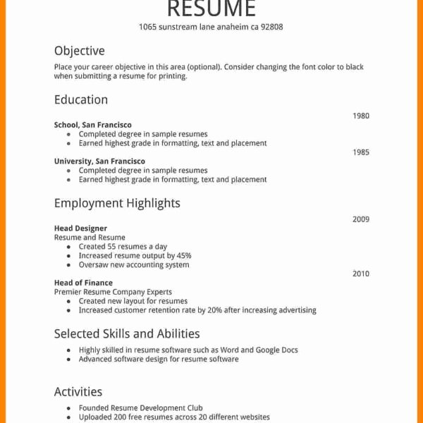 How to Make Resume fort Job Template Cv Students Sample
