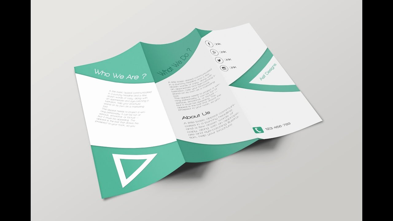 How to Make Tri Fold Brochure In Shop Cc