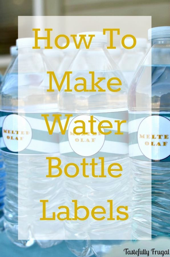 How to Make Water Bottle Labels In Word