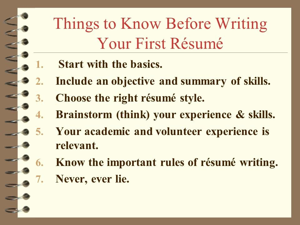 How to Make Your First Resume Lovely Writing A First