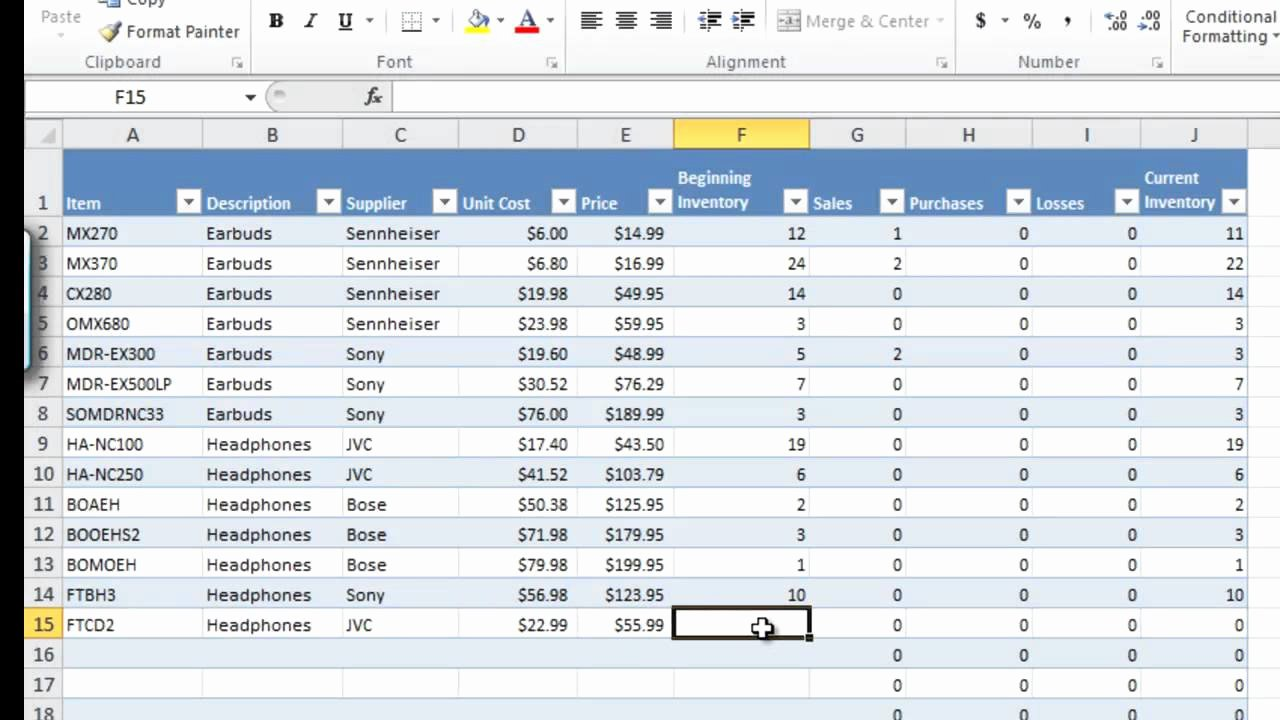 How to Manage Inventory with Excel Inventory Tracking
