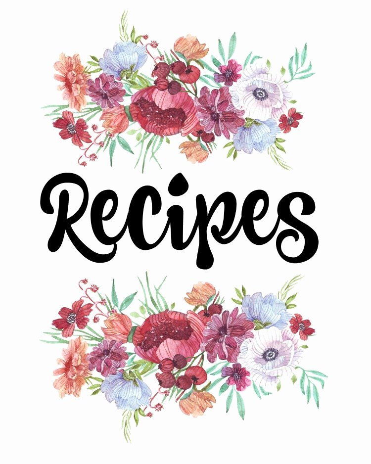 How to organize Recipes Free Printable Recipe Binder