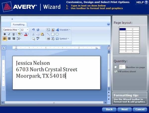 How to Save A Template In Avery Wizard software for